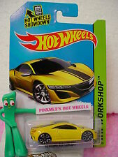 Case B 2015 i Hot Wheels '12 ACURA NSX CONCEPT 2012 #191∞Yellow;TRAP5∞Speed Team