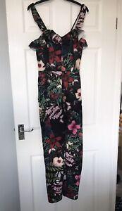 H&M Floral Pattern Jump Suit Size EUR 40 UK 12