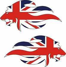 Great Britain Union Jack Lion Mirrored Pair Sticker Decal Graphic Vinyl Label