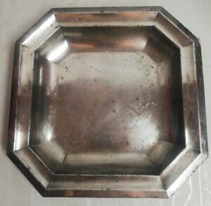 Antique Flat Metal Silver L 28 CM H 3,5 CM, Vintage, Decoration, Punch