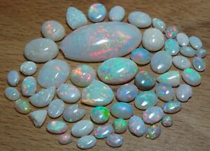 mixed fine opals (mostly damaged) 46.67ct natural loose gemstones