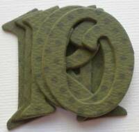 Bo Bunny Double Dot *OLiVE* Chipboard Letters