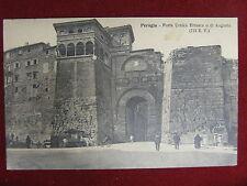 Perugia Porta Urbica Etrusca anni 20 non viaggiata animata #12265