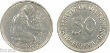 Allemagne, 50 pf, Karlsruhe, 1950, cuivre nickel, RARE - 17