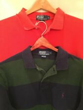 Polo Ralph Lauren Lot Of 2 Men's Long Sleeve Polo Shirts, Large