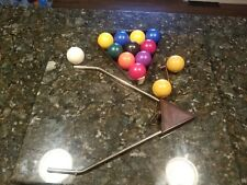 1972 Aurora Skittle Pool Balls Cue & Rack Replacement Parts Crafts