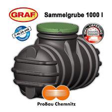 Sammelgrube Abwasser 1000 Liter, inklusive LIEFERUNG, begehbar, DIBt, GRAF