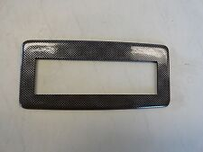 "CARBON FIBER BLANK ELECTRONICS / STEREO FACE PLATE 9 1/8"" X 4 1/4"" MARINE BOAT"