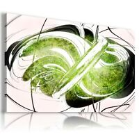 GREEN BLACK SPIRAL MODERN DESIGN Canvas Wall Art Abstract Picture 282 MATAGA .