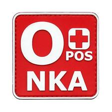 OPOS o+ NKA PVC 3D blood type morale tactical army ISAF hook patch