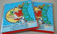 2X Mary Engelbreit Notecard Sets Wonder Santa with Child Girl Christmas Cards