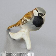 alte Goebel Porzellan Figur Vogel Sperling Sparrow 7 cm 80er Jahre W. Germany
