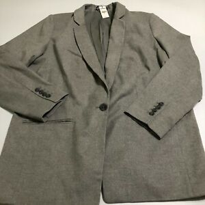 Express Womens One Button NWT Size XL Gray $138 Blazer Suit Sports Coat