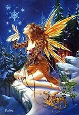 YULE MIDWINTER SOLSTICE - YULE  FAERY - BRIAR -  CHRISTMAS GREETING CARD