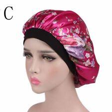 Women Wide Band Satin Bonnet Comfortable Ladies Night Sleep Hat Hair Cap Turban C