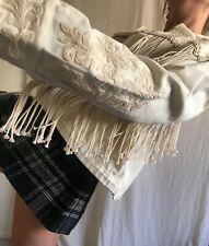 NWT Zara Cotton Canvas Fringe Jacket with Embroidery SZ Medium