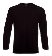 Lot de 2 à 3 Tee shirt Noir unis manches Longues FOTL 165gr/M2 NEUF S M L XL XXL
