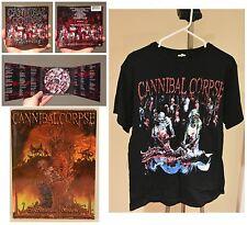 Cannibal Corpse CD T-Shirt DVD bundle lot DEATH METAL