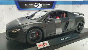 MAISTO 1:18 Diecast Model Car Special Audi R8 V10 Plus in Matte Black
