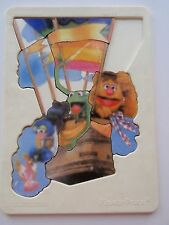 Vintage Fisher Price Hard Plastic Tray Puzzle Sesame Street Balloon Ride 1981