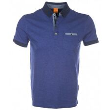NEW HUGO BOSS ORANGE LABEL PURPLE BLUE CONTRAST PATCHES 1 POLO SHIRT SIZE L