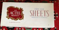Vintage Rare NOS Boxed Actil King Single Sheet Set Luxury Pure Cotton Set #3