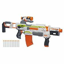 NERF N-strike Modulus ECS-10 Blaster with scope 50 darts 25 round clip AND MORE!