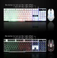 Gaming Mouse and Keyboard Bundle Gaming Rainbow LED RX mechanical keyboard Mouse