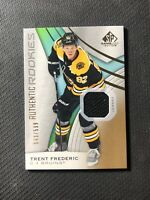 2019-20 SP GAME USED TRENT FREDERIC AUTHENTIC ROOKIE JERSEY #ed 543/599