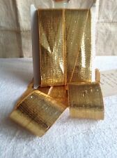 Antique Tape Golden French Ribbon 5m Baroque Furnishings Millinery VIP Gift NOS