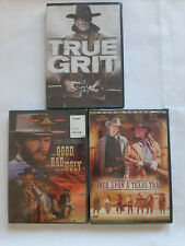3 Pack Western classic Dvds-True Grit / Good, Bad & Ugly / OnceUpon a TexasTrain