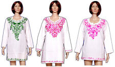 6pc Multi Embroidered Cotton Casual Women's Kurti Tunic Top Wholesale Lot