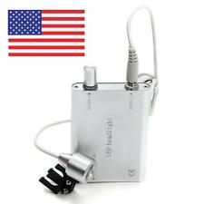 USPS Ship Dentist Portable Silver LED Head Light Lamp for Dental Surgical Loupes