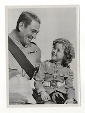 Shirley Temple 1937 Union Dresden Film Star Series 6 5 X 7 Cigarette Photo Card