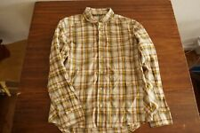 Sitka Gear Globetrotter LS Shirt, Size L, Yellow Plaid Color Hunting Lifestyle
