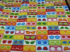 Cotton Fabric FQ -  GLASSES - Multi
