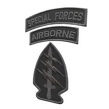 Bundle Set of 3 Patches Airborne SF Special Forces subdued tactical US Army