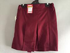 Bnwt Teenage Girls Maroon Stubbies Sz 12 School Uniform Skort Style Culottes