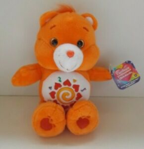Care Bears - orange teddy soft toy - new with tags
