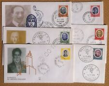 FDC ALA - Italia - 1975 - Artisti Italiani - 6 buste NVG - Annulli filatelici