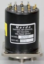 Narda/L3 DC-18 GHz 28V SP5T RF Coaxial Switch SEM 153/SEM153 SMA 5 Position