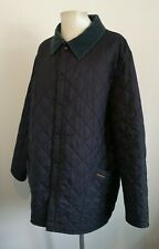 Mens Barbour Liddlesdale Navy Blue Quilted Button Up Jacket - Size XXL 2XL
