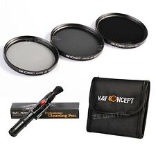 62mm ND2 ND4 ND8 Neutral Density Lens Filter Kit For Canon Nikon K&F Concept