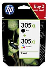 2x Original HP 305 XL Tinte Patronen DeskJet Plus 4110 4120 4122 4130 4134 Set