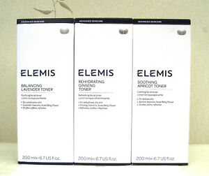 Elemis Toner 200ml New Boxed/Unboxed - Apricot,Lavender,Ginseng - See Dropdown