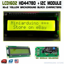 1602 LCD Green 16x2 HD44780 with IIC I2C Serial Interface Adapter Module Display