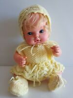 1975 MATTEL Doll - Hush Lil Baby VINTAGE DOLL wearing Custom Knitted Clothing
