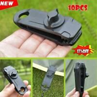 10 Reusable Tent Tarp Tarpaulin Clip Clamp Buckle Camping Tool Heavy Duty Sale