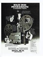 Publicité Advertising 068  1977    projecteur Bolex SM 80 programatic