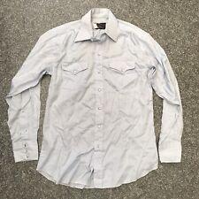 VINTAGE Panhandle Slim Western Camicia Peal Snap Cowboy-Large (DP225)